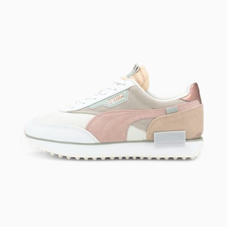 Future Rider Soft Metal Women's Sneakers, Marshmallow-Natural Vachetta, small