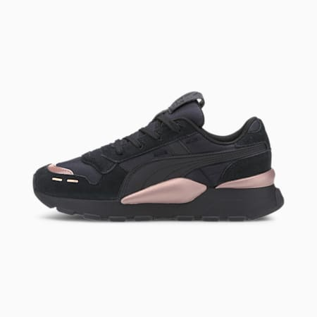 RS 2.0 Mono Metal Women's Trainers, Puma Black-Rose Gold, small