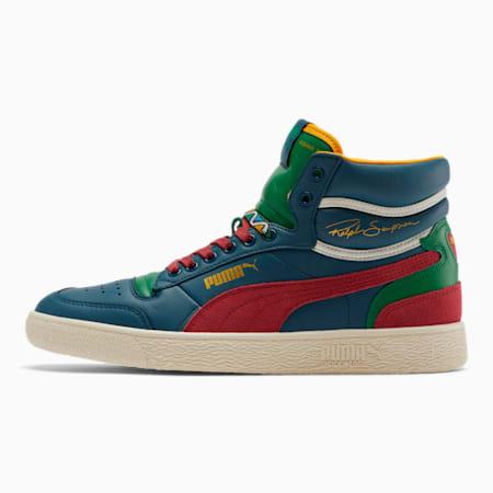 Ralph Sampson Mid BHM Men's Sneakers, Dark Denim-BRusset-AGreen, small