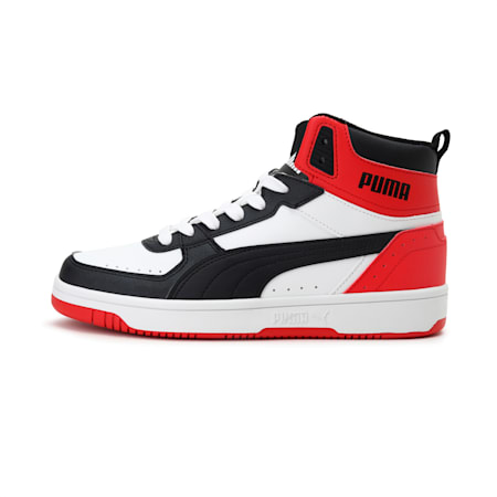 Rebound JOY SoftFoam+ Kid's Shoes, White-Black-High Risk Red, small-IND