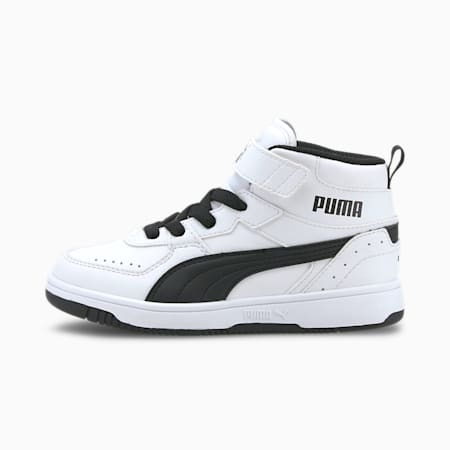 PUMA Rebound Joy Little Kids' Shoes, Puma White-Puma Black, small
