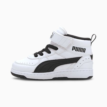 PUMA Rebound Joy Toddler Shoes, Puma White-Puma Black, small