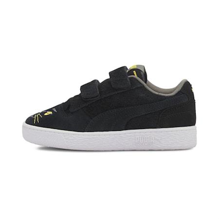 Ralph Sampson Animals Little Kids' Shoes, Puma Black-Super Lemon, small