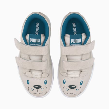 Basket Ralph Sampson Animals pour enfant, Vaporous Gray-Puma White, small