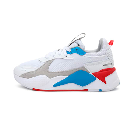 RS-X Monday Kid's Shoes, Puma White-High Risk Red, small-IND