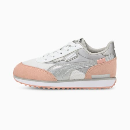 Future Rider Arctic PS Kids' Trainers, Puma White-Peachskin, small
