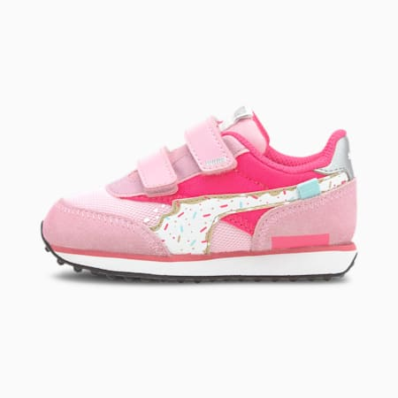 Future Rider Candy Babies' Trainers, Pale Pink-Glowing Pink, small