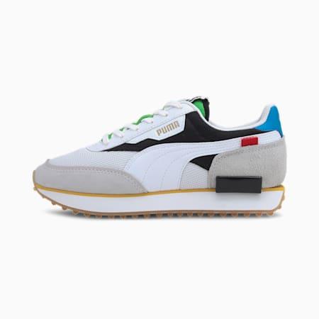 Młodzieżowe buty sportowe Future Rider Unity, Puma White-Puma Black, small