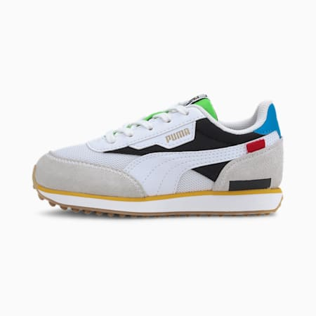 Future Rider Kids Sneaker, Puma White-Puma Black, small