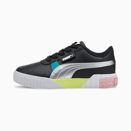 Cali Crazy Little Kids' Shoes, Puma Black-Viridian Green, small