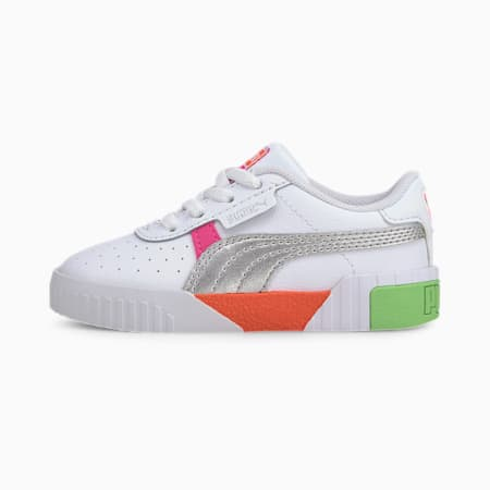 Cali Crazy Toddler Shoes, Puma White-Glowing Pink, small