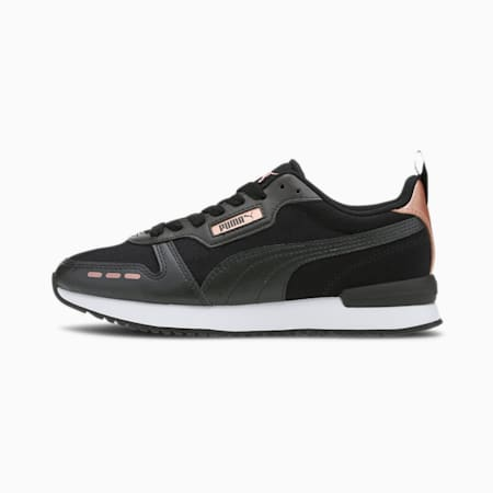 PUMA R78 Metallic Women's Sneakers, Black- Black-Rose Gold, small