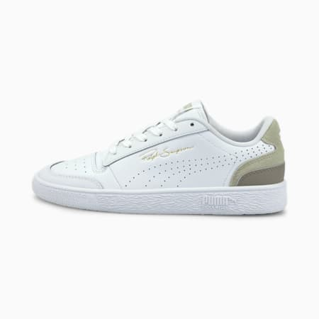 Ralph Sampson Lo Perforated Colour Unisex Sneakers, Puma White-Desert Sage, small-IND