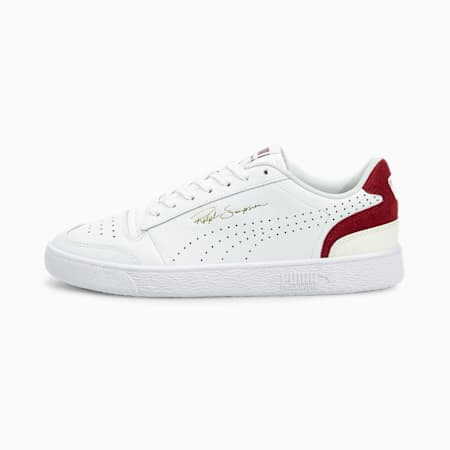 Ralph Sampson Lo Perf Colour Trainers, Puma White-Intense Red-Ivory Glow, small