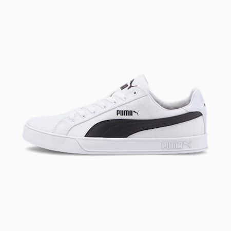 PUMA Smash Vulc Canvas Unisex Sneakers, Puma White-Puma Black, small-IND