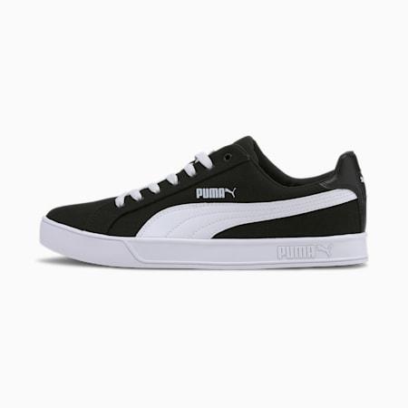 Smash Vulc Canvas Trainers, Puma Black-Puma White, small