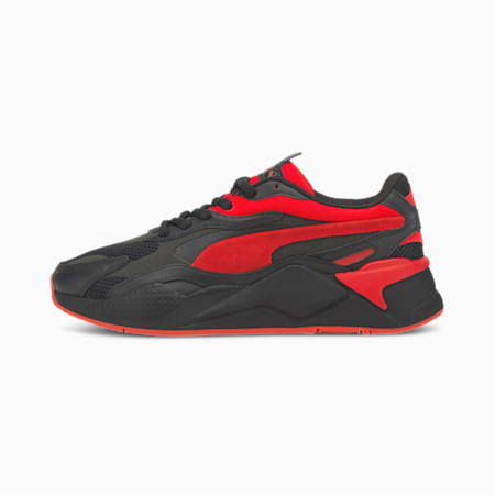 RS-X Prism Trainers, Puma Black-High Risk Red, small