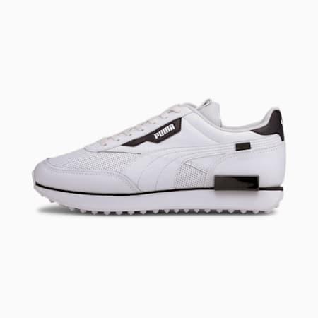 Future Rider Contrast Trainers, Puma White-Puma Black, small