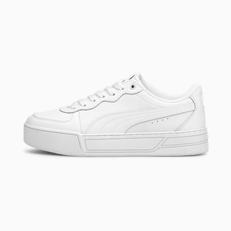 Skye Women's Trainers, White-White-Silver-Gray, small-GBR