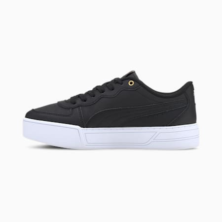 Skye Damen Sneaker, Black-Black-Puma Team Gold, small
