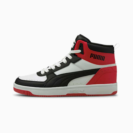 Rebound JOY SoftFoam+ Shoes, White-Black-High Risk Red, small-IND