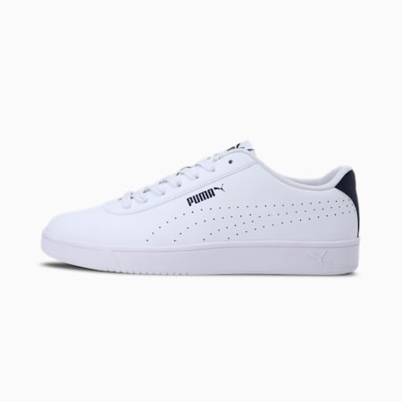 Court Pure SoftFoam+ Unisex Sneakers, Puma White-Puma New Navy, small-IND