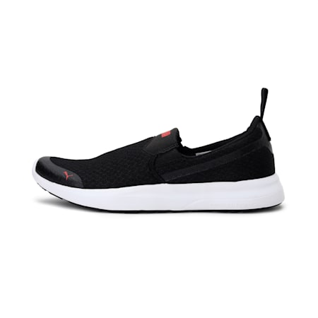 Dexster Slip On IDP SoftFoam Men's Sneakers, Puma Black-High Risk Red, small-IND