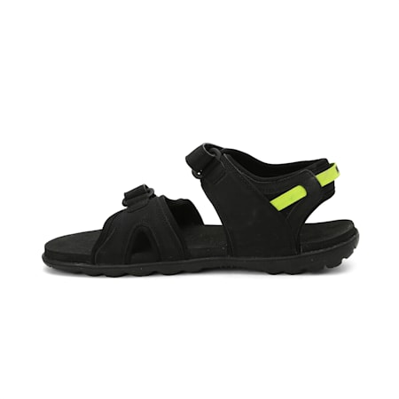Cloud IDP Sandals, Puma Black-Limepunch, small-IND