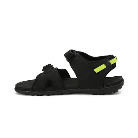 Cloud Unisex Sandals, Puma Black-Limepunch, small-IND