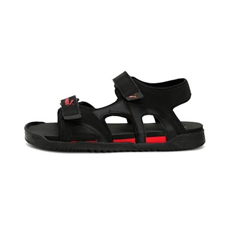 Glen IDP Sandals, Puma Black-High Risk Red, small-IND
