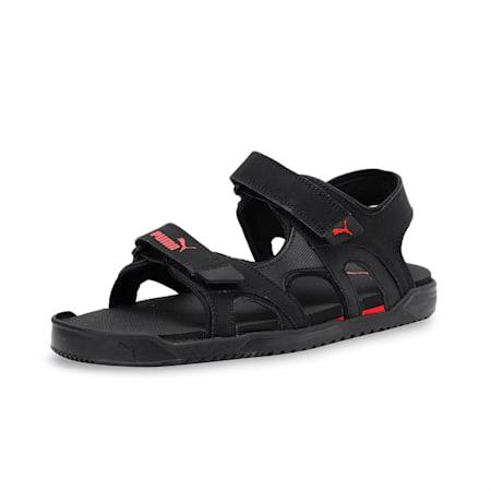 Glen Unisex Sandals, Puma Black-High Risk Red, small-IND
