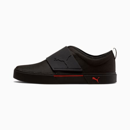 El Rey II Men's Slip-On Shoes, Puma Black-High Risk Red, small