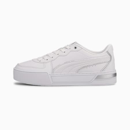 Skye Metallic Women's Trainers, Puma White-White-Puma Silver, small