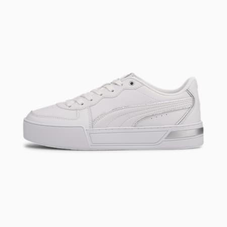 Zapatillas Skye Metallic para mujer, Puma White-White-Puma Silver, small