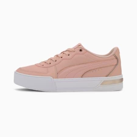 Skye Metallic SoftFoam+ Women's Sneakers, Peachskin-Peachskin-Gold, small-IND