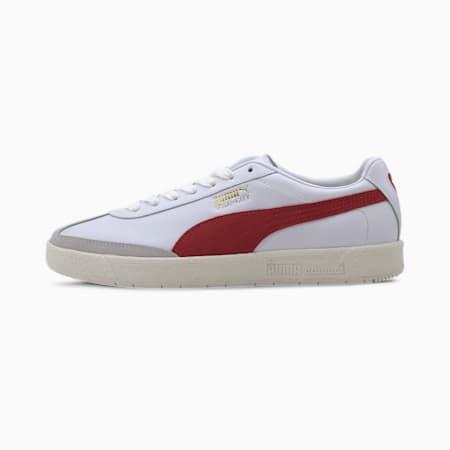 Oslo-City Premium Men's Sneakers, White-Whisper White-Gray, small