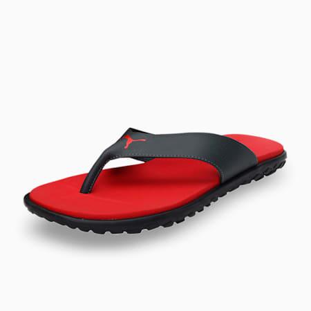 Galaxy Comfort IDP Men's Flip Flops, High Risk Red-Dark Shadow, small-IND