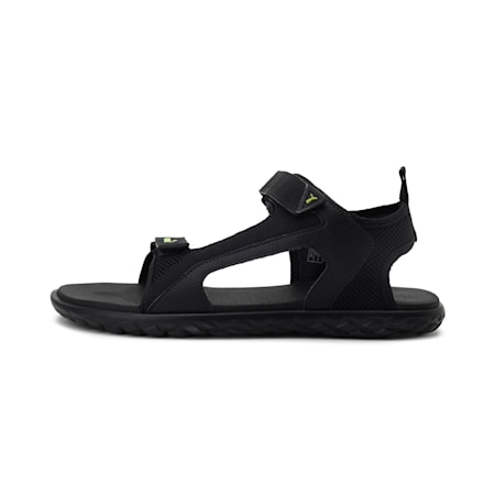 Cruise Comfort V1 IDP Men's Sandals, Puma Black-Limepunch, small-IND