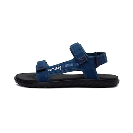 PUMA x one8 Stride IDP Sandals, Dark Denim-Puma White, small-IND