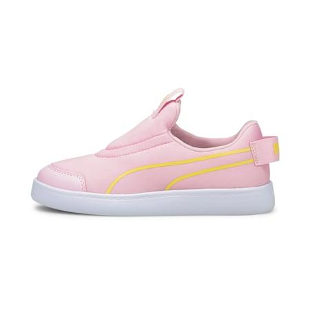 Courtflex v2 Slip-On Kids' Trainers, Pink Lady-Celandine, small-GBR