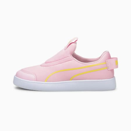 Courtflex v2 Slip-On Kids' Trainers, Pink Lady-Celandine, small-GBR
