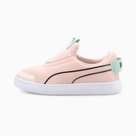 Zapatillas sin cierre para niños Courtflex v2, Lotus-Puma Black, small