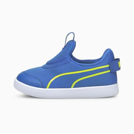 Courtflex v2 Slip-On Babies' Trainers, Star Sapphire-Nrgy Yellow, small