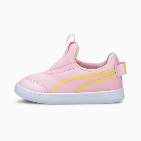 Courtflex v2 Slip-On Babies' Trainers, Pink Lady-Celandine, small-GBR