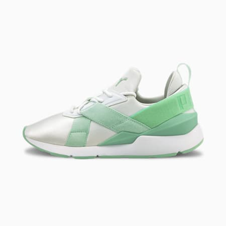 Muse X3 Pastel Women's Shoes, Puma White-Mist Green, small-IND