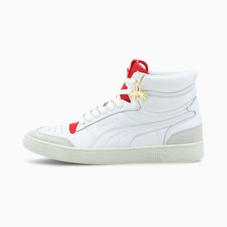 Ralph Sampson Mid Dassler Legacy Trainers, P Wht-HighRiskRed-VaporusGry, small