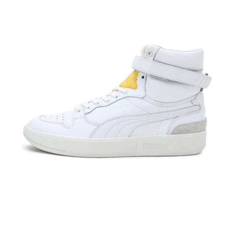 Sky LX Mid Dassler Legacy Shoes, White -Supper Lemon- Gray, small-IND