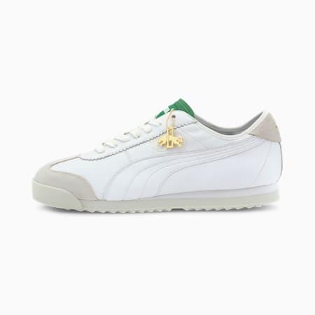 Roma '68 Dassler Legacy Sneaker, PWht-AmazonGreen-VaporusGray, small
