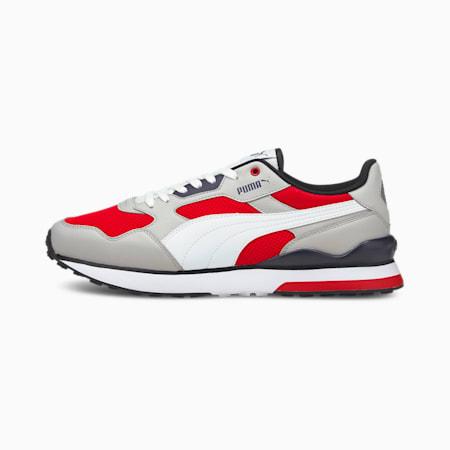 Zapatos deportivos R78 FUTR para hombre, Gris-Blanco-High Risk Red, pequeño