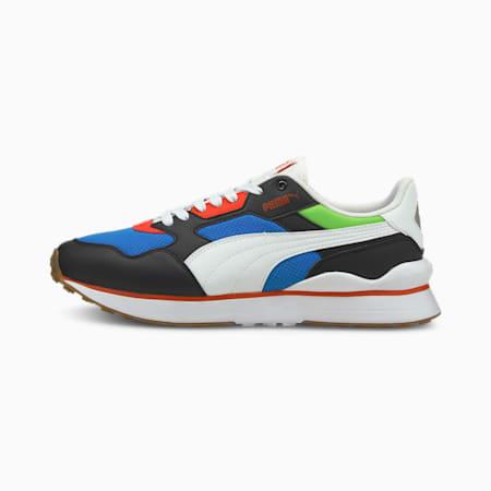 Zapatos deportivos R78 FUTR para hombre, Puma Black-Puma White-Future Blue, pequeño